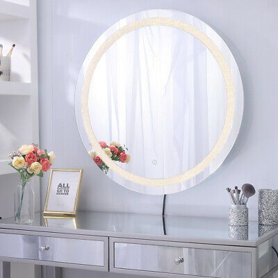 Chende Crystal Hollywood Makeup Mirror, Vanity Mirror With Lights Frameless
