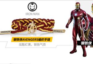 Marvel Avengers: Endgame A logo Thor Thanos Woven Bracelet Hulk Adjustable Gift