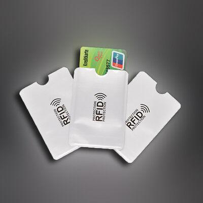 1-100x RFID Schutzhülle Blocker NFC Datenschutz Abschirmung EC Karte Kreditkarte