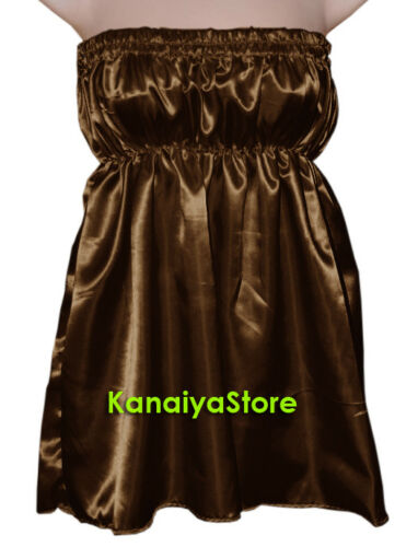 Women Handmade Satin Casual beach dress cover up holidays Western Top 30 Color