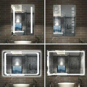 Specchio Da Bagno Con Illuminazione Led Anti Appannamento Riscaldato Touch Ebay