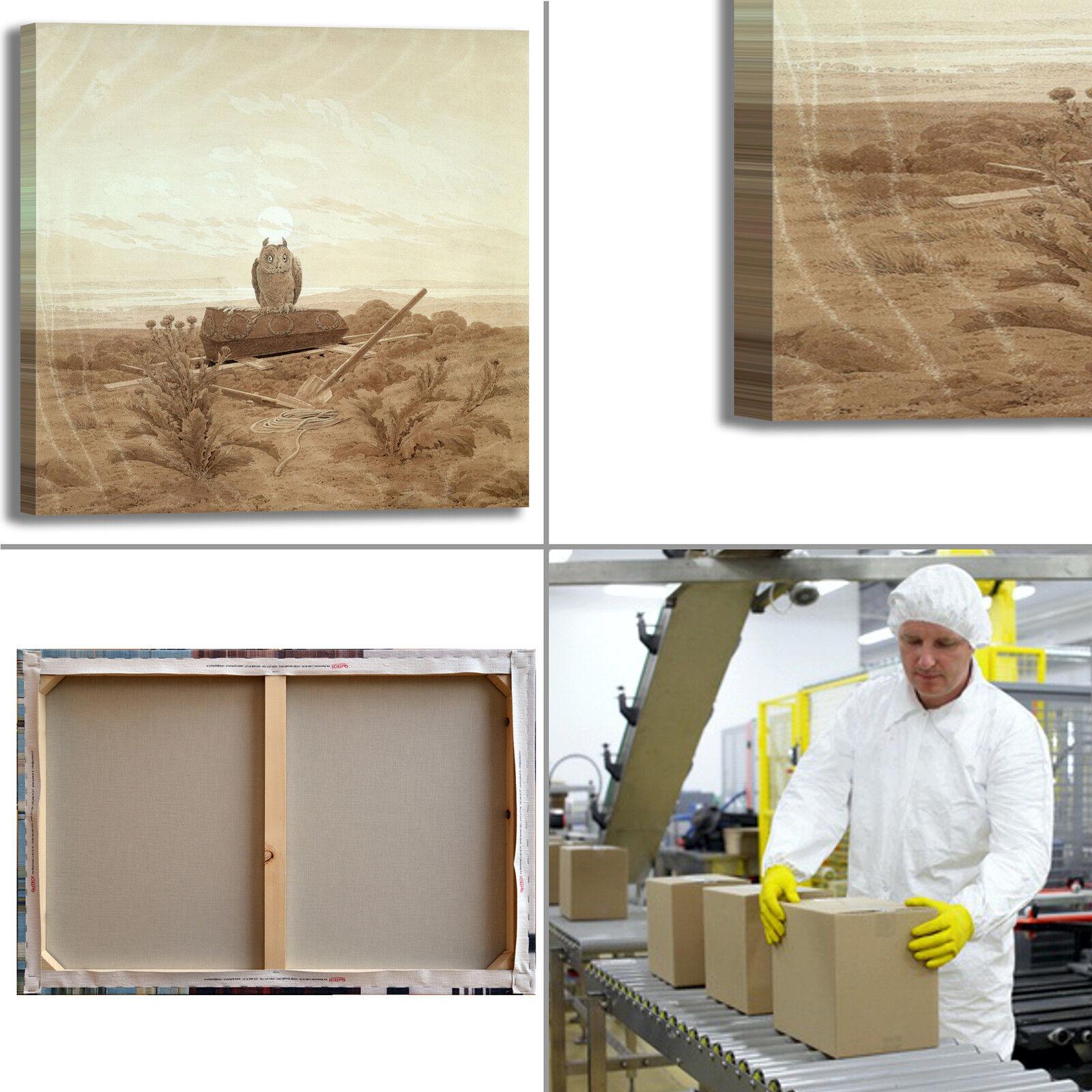 Caspar dipinto paesaggio con gufo design quadro stampa tela dipinto Caspar telaio arRouge o casa 1d619a