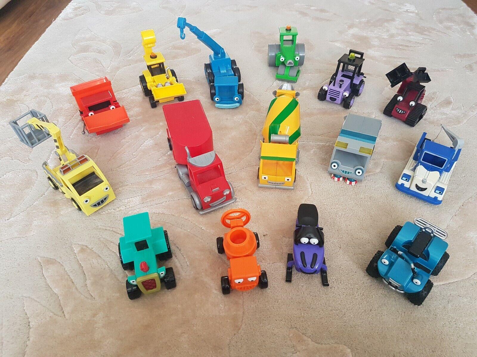 15 X Bob El Constructor fricción Vehículos Coches Camiones - Excelente Estado