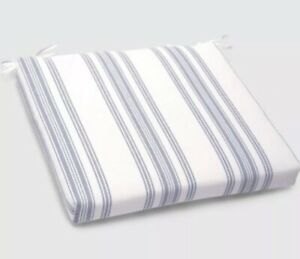 Surprising Details About New Ticking Striped Outdoor Seat Chair Cushion Ties Navy White Threshold 18X20X3 Ibusinesslaw Wood Chair Design Ideas Ibusinesslaworg
