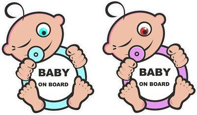 Accurato Baby A Bordo Rotondo Divertente Bambini Bambino Per Auto Finestra Adesivo Decalcomania Blu Rosa- Con Il Miglior Servizio