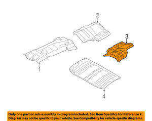 image is loading subaru-oem-09-13-forester-heat-shields-exhaust-