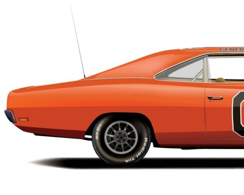 General Lee Car The Dukes of Hazzard 1969 Dodge Charger CLEAN VERSION