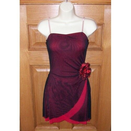 IN STOCK Bodywrappers Spanish Lyrical Mesh Wrap Dress Dance Costume Adult Medium