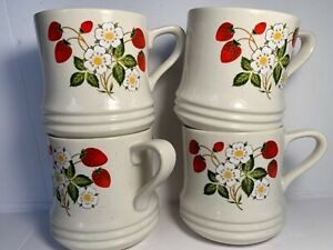 Sheffield-Strawberries-and-Cream-Stoneware-Coffee-Mug-Made-in-Japan-Vintage