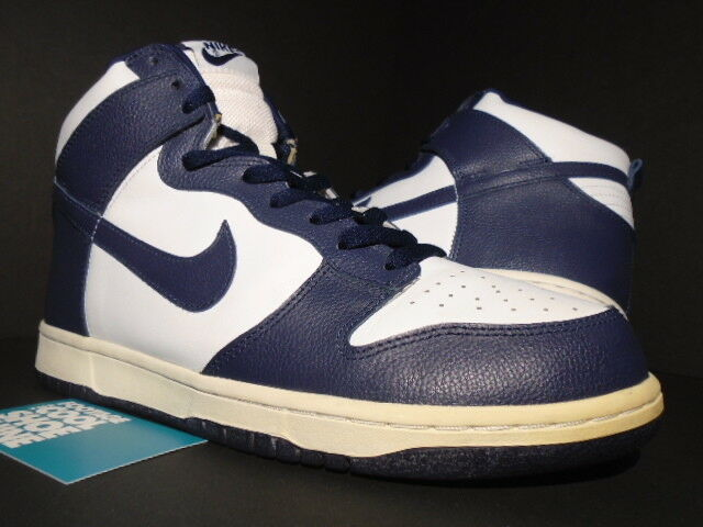 2005 NIKE SB DUNK HIGH WHITE MIDNIGHT NAVY blueE USA BTTYS DIAMOND 309432-141 10