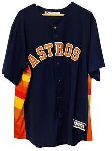 Houston Astros George Springer Jersey Mens Size 2X Majestic Cool Base MLB Champ