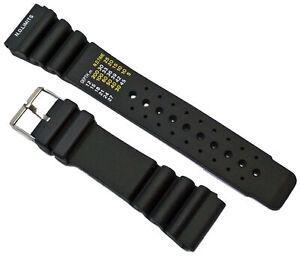 Caucho-Buceador-Pulsera-de-Reloj-Negro-Apto-Citizen-Promaster-24mm-Pulsera