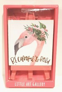 Primitives-by-Kathy-Flamingo-Sign-3-034-on-Easel-Little-Art-Gallery-Color-Bold-by