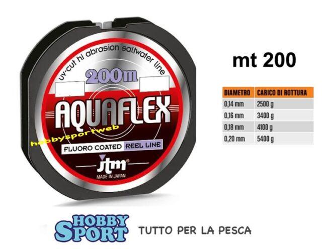 FILO AQUAFLEX JTM 200 mt - 0,20 mm - SPECIALE BOLOGNESE-MULINELLO -MADE IN JAPAN
