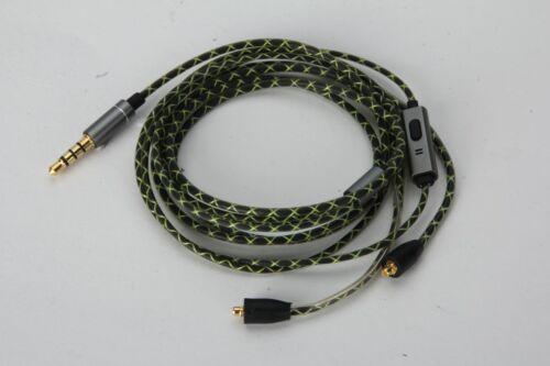 Green Audio Cable with mic For SONY XBA-N3AP XBA-N1AP XBA-300AP headphones