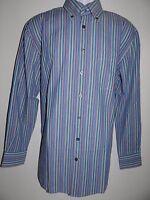 Ben Hogan Men's Blue/multi 100% Cotton L/s Shirt Size: M L & Xl Sale