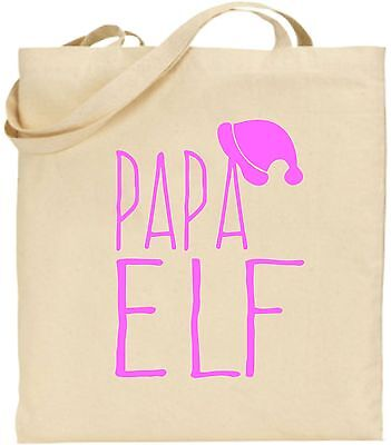 Papa Elfen Groß Baumwoll-tragetasche Weihnachten Einkauf Cool Dad Daddy