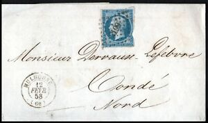 France-1858-20c-Imperf-Emperor-Napoleon-Wrapper-Mulhouse