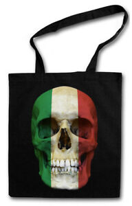 CLASSIC HUNGARY SKULL FLAG STOFFTASCHE Flagge Schädel Banner Fahne Ungarn