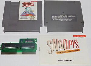 Snoopy-039-s-Silly-Sports-Spectacular-Nintendo-NES-Game-Cartridge-Manual-Book-Rare