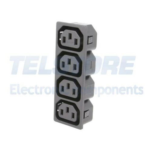 quadrupli AD 1pcs IEC-D-S4-150 Connettore di alimentazione AC IEC 60320 C13 F