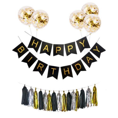 7pcs//Set Happy Birthday Balloons Bunting Banner Child Girl Birthday Party Decor