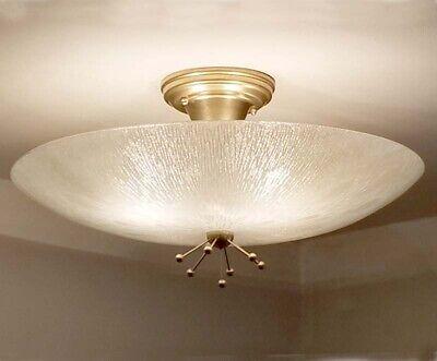692b 50s 60/'s Vintage Ceiling Light Lamp Fixture atomic mid-century eames
