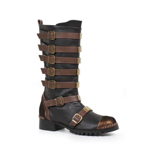 Brown Black Mens Steampunk Western Cowboy Gold Miner Wild West Boots 10 11 12