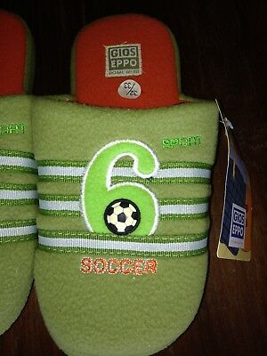 * Nuovo * Gios Eppo Pantofole-tg. 32/33 - Verde-soccer-calcio-pantofole-mostra Il Titolo Originale Vivace E Grande Nello Stile
