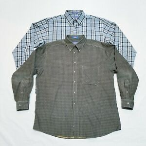 Men/'s Long Sleeve Plaid Shirt 100/% pure cotton Male casual Check Shirts slim fit