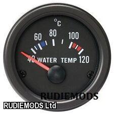 52mm Black Waterproof Water Temp Deg C gauge ideal Kit Car or Marine
