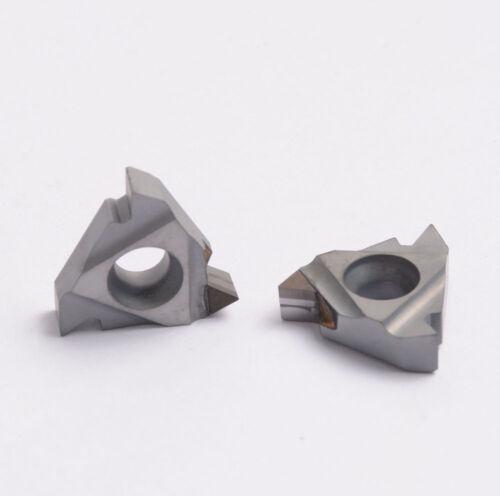 2pcs 16IR AG60 CBN Diamond Tipped Turning Insert CNC Lathe