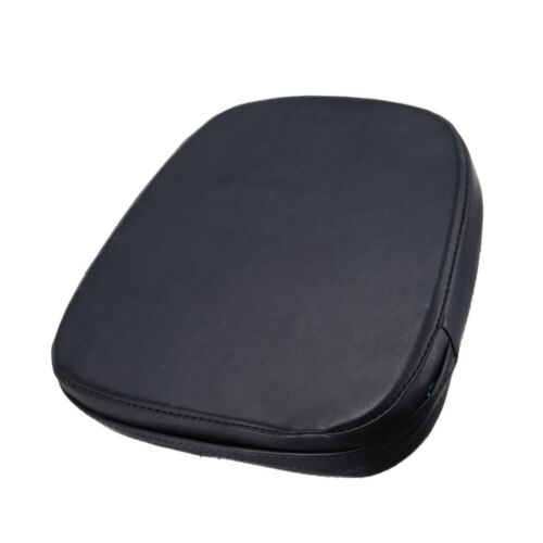 Black Motorcycle Sissy Bar Back Backrest Cushion Pad For Harley Chopper Cruiser