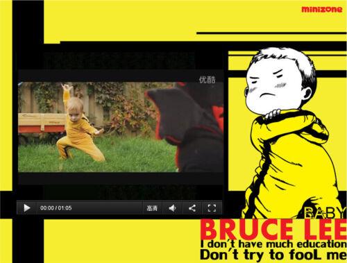 Kinder Baby Jungen Bruce Lee Game of Death KungFu Gelb Romper Strampler Kleidung