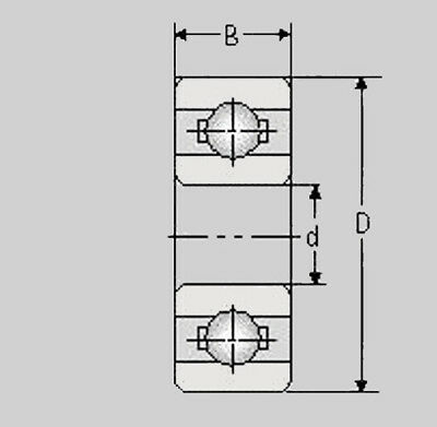 1 Kugellager 6203 ZZ 17 x 40 x 12 mm