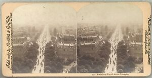 Parigi Vista Generale Prise Da l4arc Da Triomphe Foto Stereo Vintage Albumina