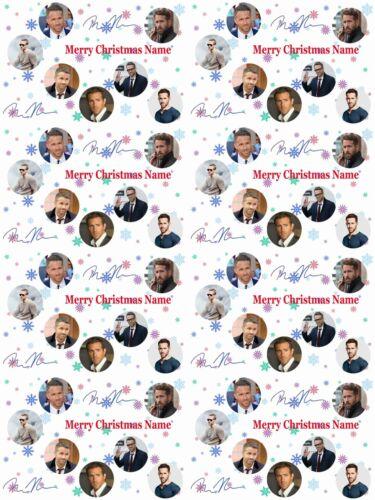 Ryan Reynolds Personnalisé Cadeau De Noël Papier Cadeau 4 DESIGNS Ajouter Nom