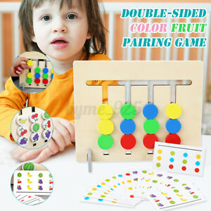 Wooden Fruit Logic Game Training Early Educational Toys for Kids Toddler Gifts