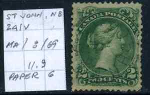 Canada #24iv used VF 1868 Queen Victoria 2c green Large Queen Bothwell SON CDS