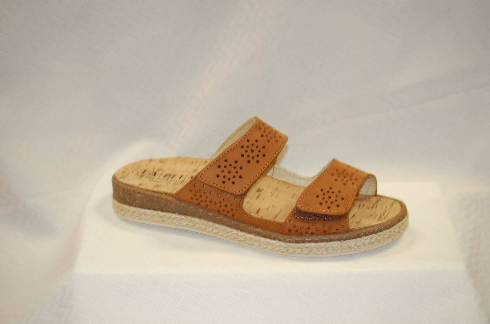 La Plume Meadow Slide Slide Slide Sandal Tan Nubuk leather + removable insole Dimensione 40 3a3894