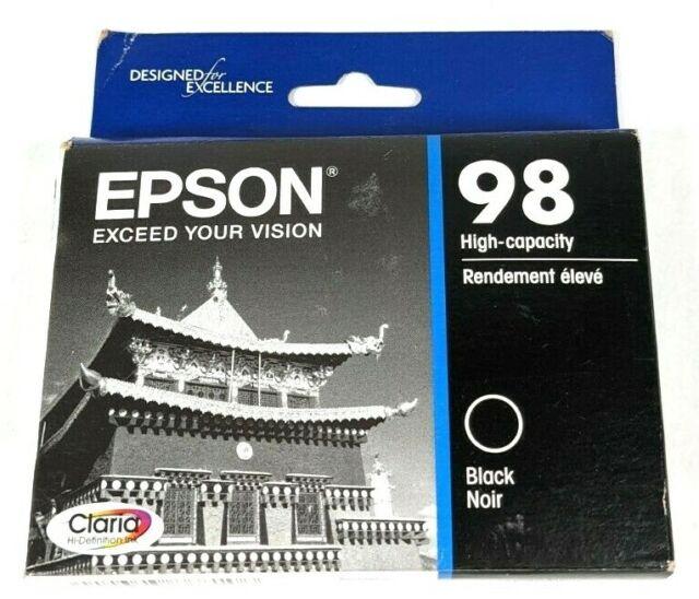 Oem Genuine Epson 98 Black Ink Cartridge High Capacity