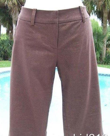 Cache Sparkle Linen Blend Short Pant New XS S M L Stretch City Bermuda  88 NWT