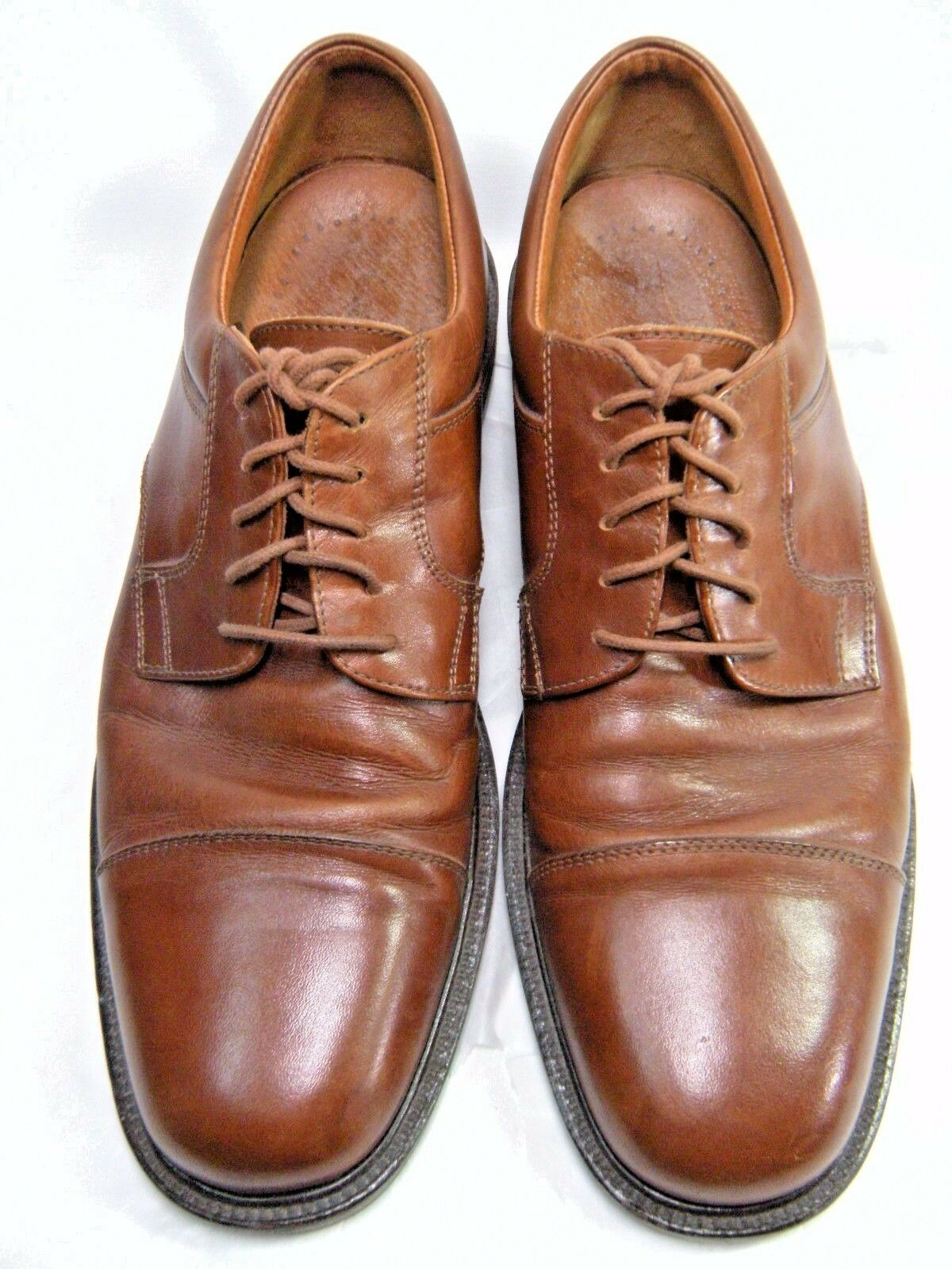 JOHNSTON & MURPHY PASSPORT Mens Oxfords  ITALY Sz 10 M  Cap Toe Leather BJ