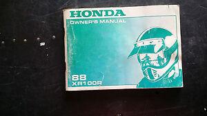 Honda-XR100R-XR-100-R-1988-Owners-Manual