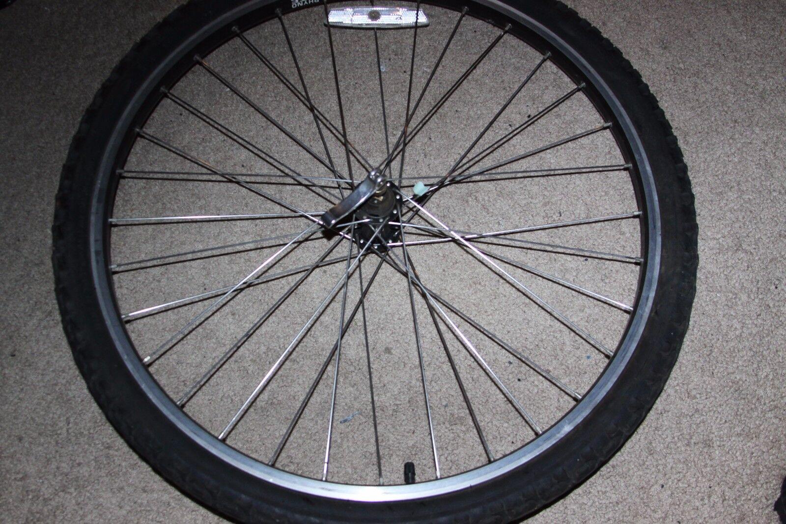 Used MTB Front Wheel 26 , Sunrims Rhyno Lite, Shimano HB-M510 VIAM