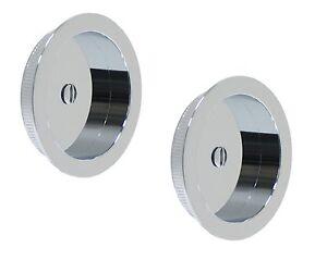 Series 2000 Modern Round Pocket Door Flush Pull Hardware