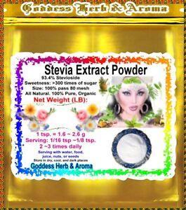 1-LB-Stevia-Extract-white-powder-93-Stevioside-extrapure-PREMIUM-NO-GMO-Pure