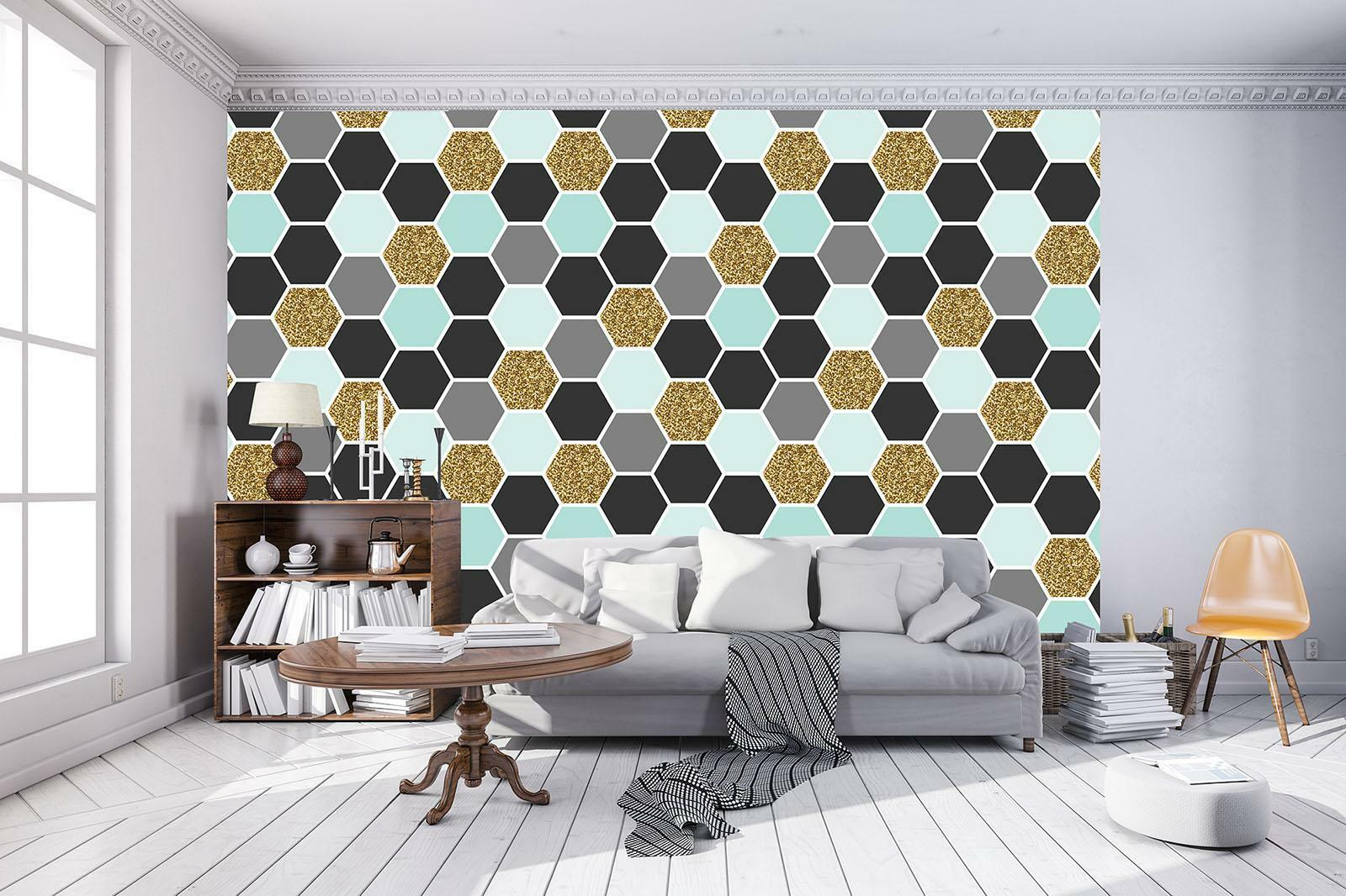 Photo Wallpaper Mural Non-woven 10784_VEE Abstraction abstraction geometry desig