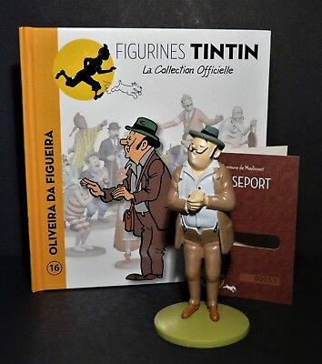 "LARGE 5/"" TINTIN FIGURINE /""OFFICIAL COLLECTION/"" #M18 NESTOR AU PLATEAU"