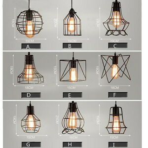 Delicieux Image Is Loading MIXED VINTAGE EDISON METAL WIRE CAGE HANGING LAMP